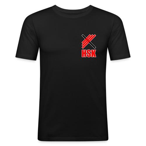 Huddinge styrkelyftklubb 2 logotyper - Slim Fit T-shirt herr
