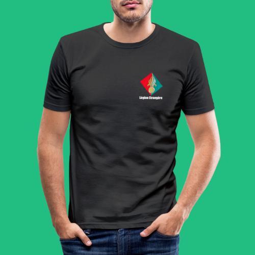 grenade legion blanche - T-shirt près du corps Homme