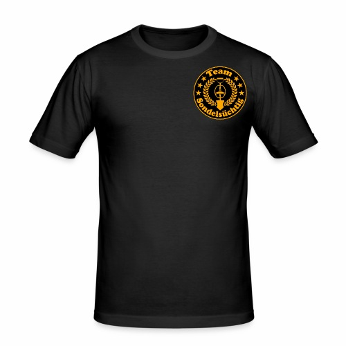 Sondelsüchtig Logo - Männer Slim Fit T-Shirt