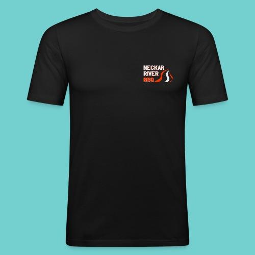 Neckar River BBQ Tasse - Männer Slim Fit T-Shirt