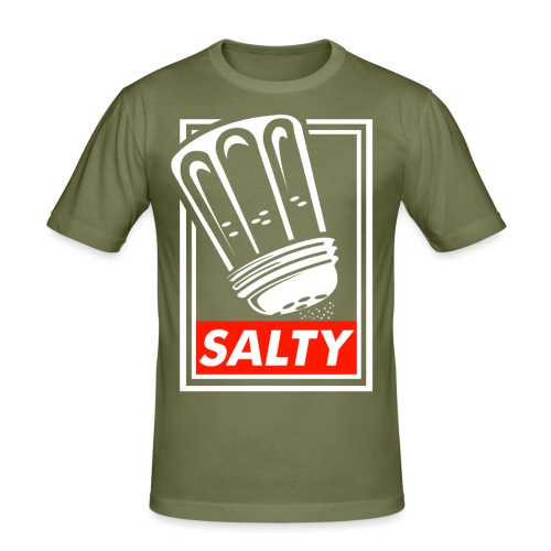 Salty white - Men's Slim Fit T-Shirt