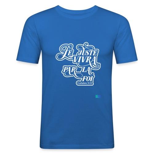 Le juste vivra par la foi - T-shirt près du corps Homme