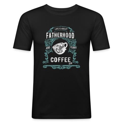 Fatherhood needs Plenty Coffee 2018 Announcement - Men's Slim Fit T-Shirt