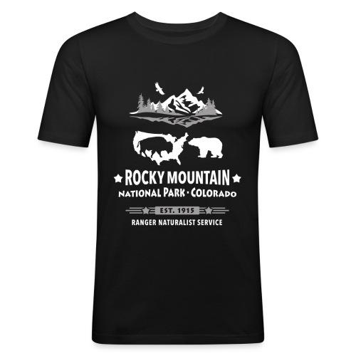 Rocky Mountain Nationalpark Berg Bison Grizzly Bär - Men's Slim Fit T-Shirt