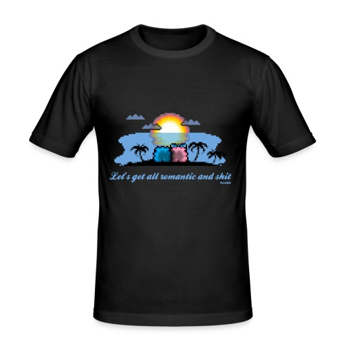 Beach Romantic - Männer Slim Fit T-Shirt
