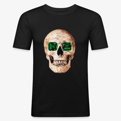 Calavera de ojos verdes Design - Camiseta ajustada hombre