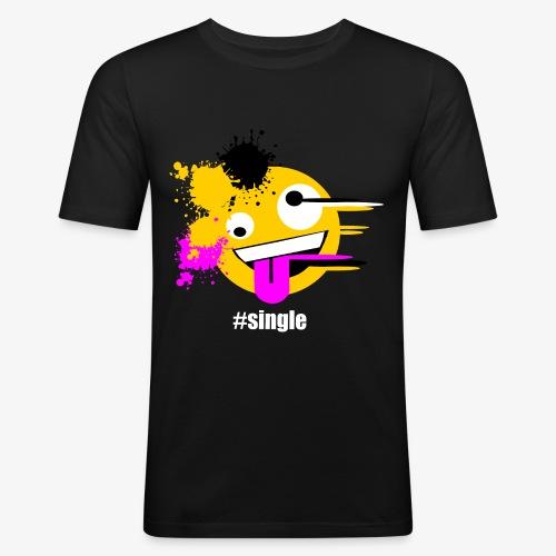 Emoji Art #single - Männer Slim Fit T-Shirt