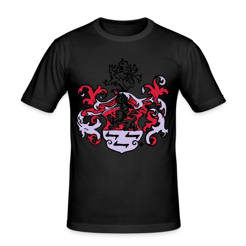 Wappen dreifarbig - Männer Slim Fit T-Shirt