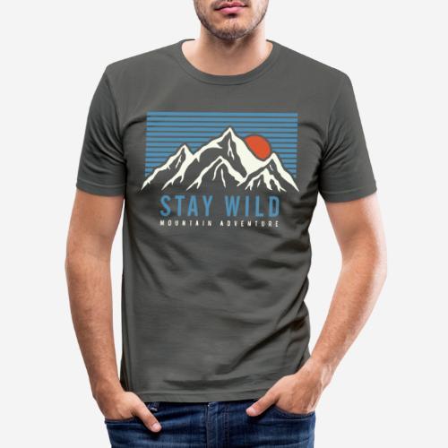 Berg bleiben wild - Männer Slim Fit T-Shirt
