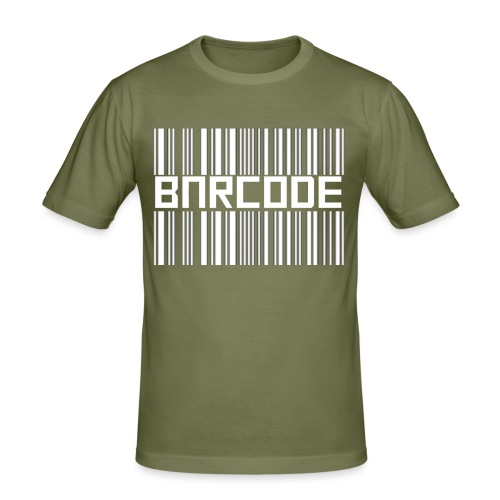 BARCODE BLACK - Men's Slim Fit T-Shirt