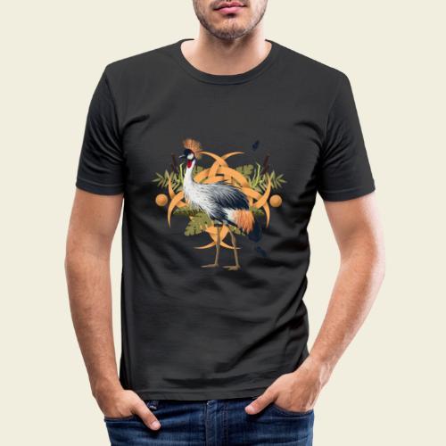 Kronenkranich - Männer Slim Fit T-Shirt