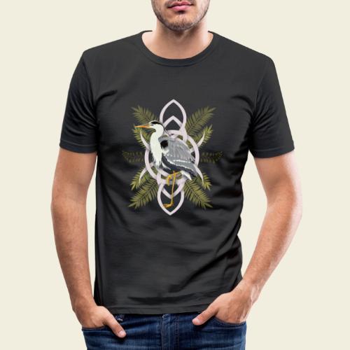 Reiher - Männer Slim Fit T-Shirt