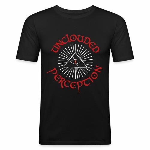 Logo red font white rest - Männer Slim Fit T-Shirt