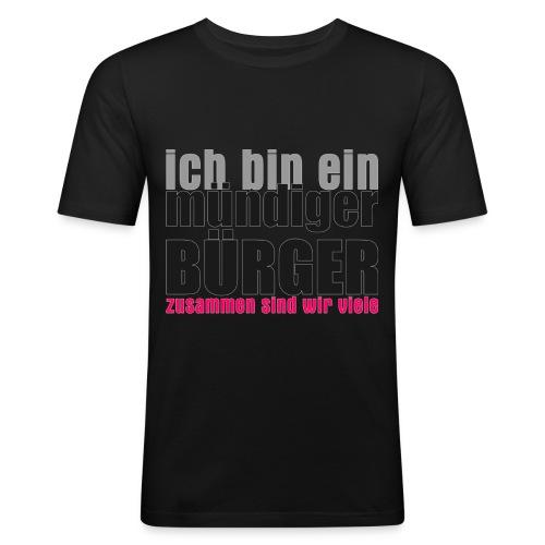 muendiger_buerger - Männer Slim Fit T-Shirt