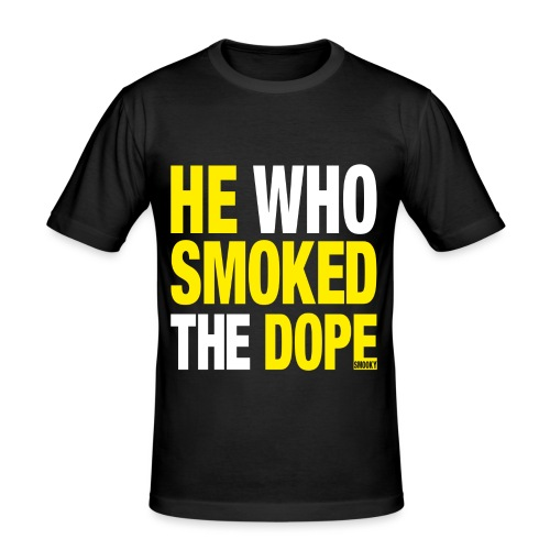 DOPE YELLOW - Männer Slim Fit T-Shirt