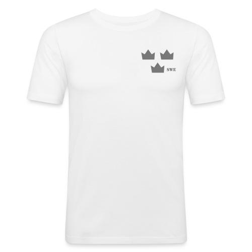 Tre kronor gr gray rgb swe - Slim Fit T-shirt herr