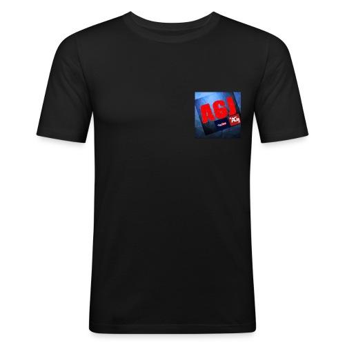 AGJ Nieuw logo design - Mannen slim fit T-shirt