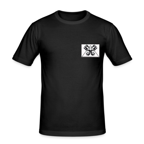 EVO Logo - Männer Slim Fit T-Shirt