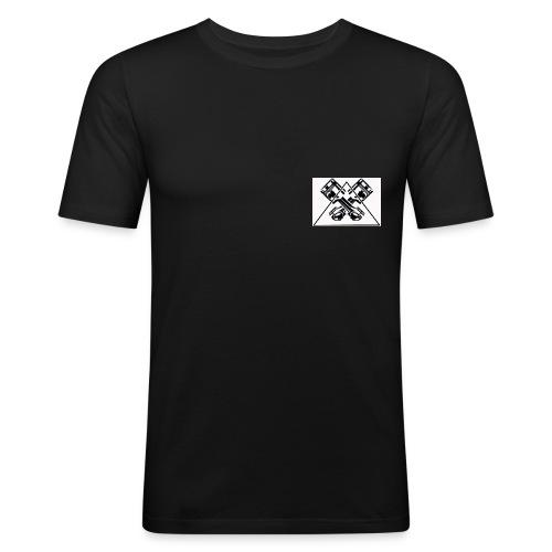 EVO Logo - Männer Slim Fit T-Shirt