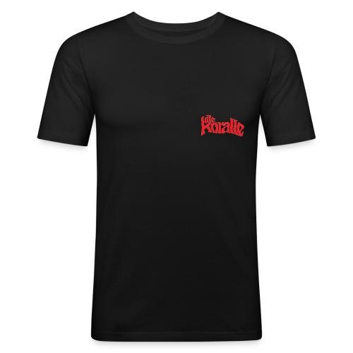 koralle logo tshirtsrot - Männer Slim Fit T-Shirt
