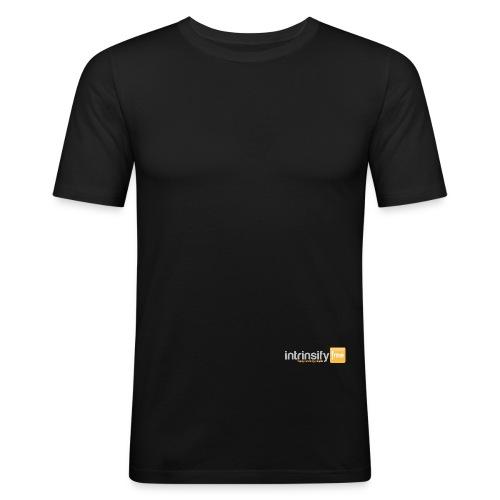 intrinsify Logo RGB hell freigestellt png - Männer Slim Fit T-Shirt