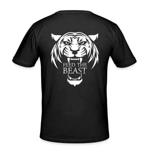STRONGER - Feed The Beast - Mannen slim fit T-shirt