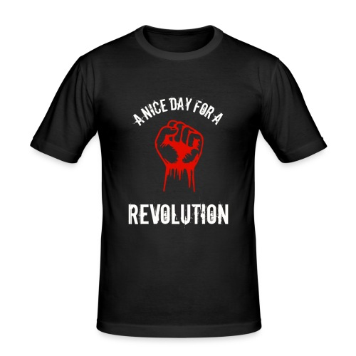 a nice day for a revolution - Men's Slim Fit T-Shirt