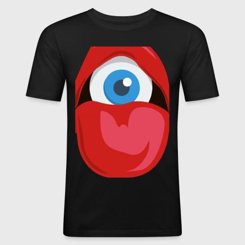 Exposing the blind big logo - Men's Slim Fit T-Shirt