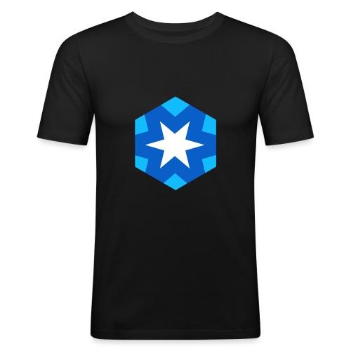 Logo #JustRightSnow - Maglietta aderente da uomo