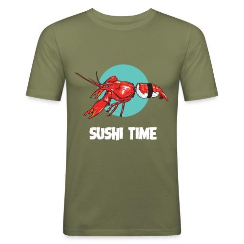 SUSHI TIME-gambero-b - Maglietta aderente da uomo