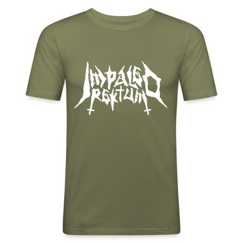 Impaled Rektum -logo shirt - Miesten tyköistuva t-paita