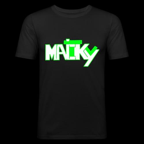 MaickyTv Grün - Männer Slim Fit T-Shirt