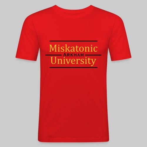 MJKv1: Miskatonic University - Arkham - Männer Slim Fit T-Shirt