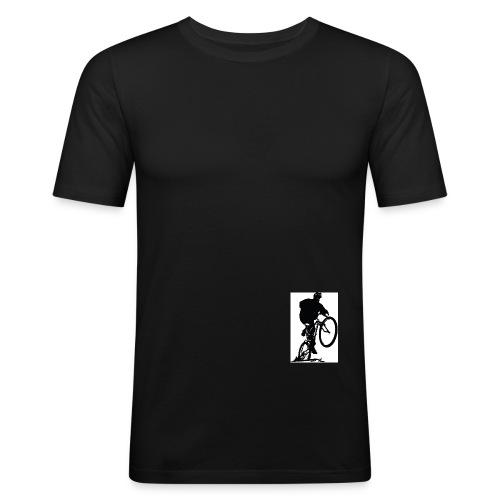 Mountain Bike Wheelie Retro - Men's Slim Fit T-Shirt