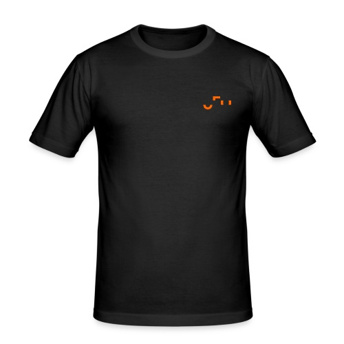 UFO Small Pocket Logo - Front and Back - Männer Slim Fit T-Shirt