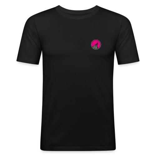 Logo cercle magenta - T-shirt près du corps Homme