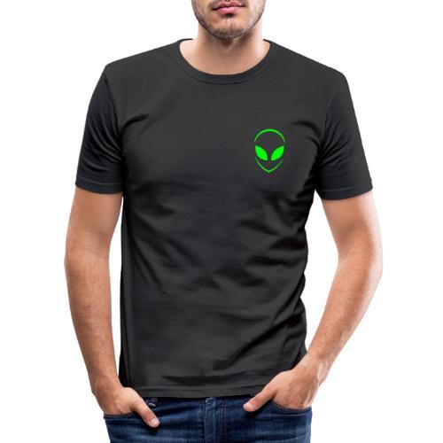 Alien Face Cool - Men's Slim Fit T-Shirt