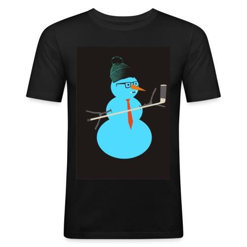 Hockey snowman - Miesten tyköistuva t-paita