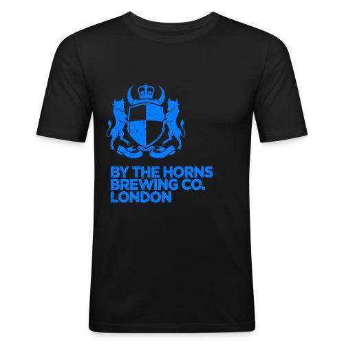 BTH Logo Textured ElectricBlue png - Men's Slim Fit T-Shirt
