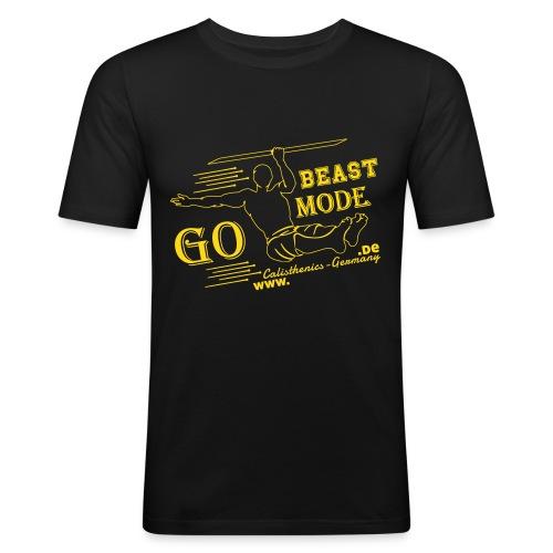 GO BEASTMODE - Männer Slim Fit T-Shirt