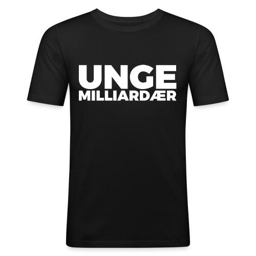 unge-mill-logo-hvit - Slim Fit T-skjorte for menn