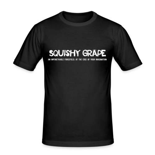 Squishy Grape: An Impenetrable Forcefield - Men's Slim Fit T-Shirt