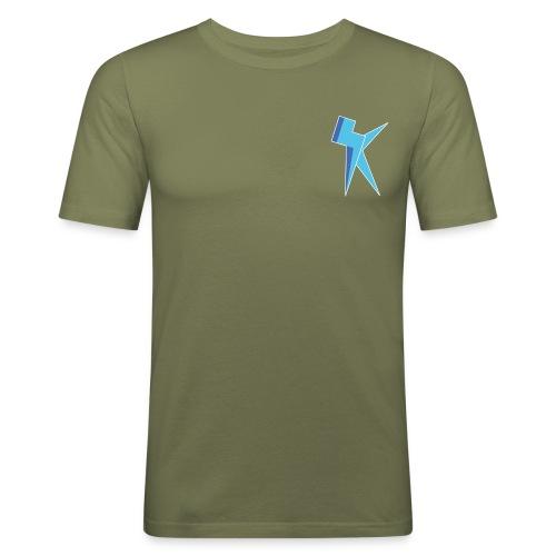 K Vlogs Logo - slim fit T-shirt