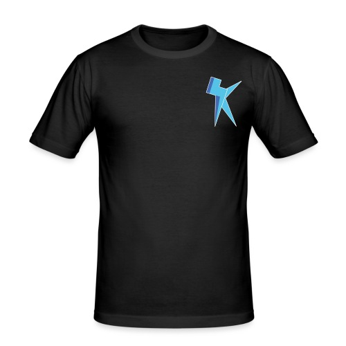 K Vlogs Logo - Mannen slim fit T-shirt