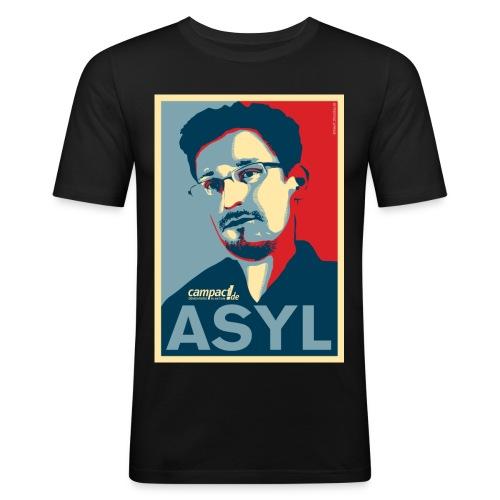 Asyl für Edward Snowden - Männer Slim Fit T-Shirt
