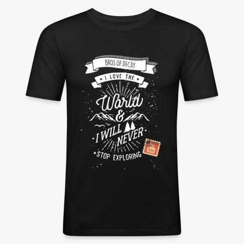 NEVERSTOPEXPLORING1 - Men's Slim Fit T-Shirt