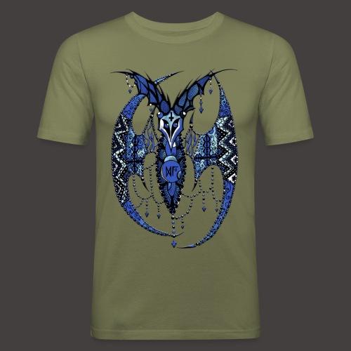 Chauve Souris Dentelle Bleue - T-shirt près du corps Homme