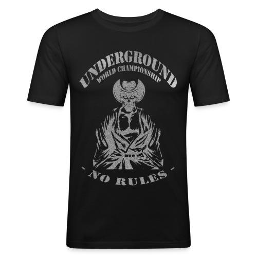 Underground World Championship - Montana Fighter 2 - Männer Slim Fit T-Shirt