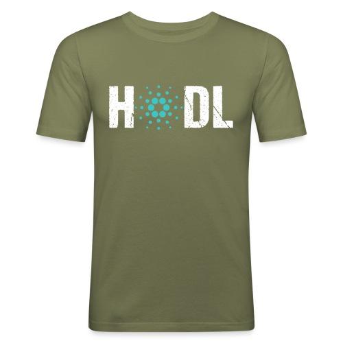 HODL Cardano ADA - Männer Slim Fit T-Shirt