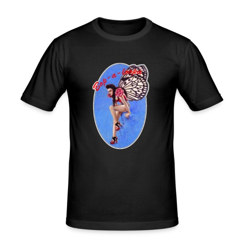 Vintage Rockabilly Butterfly Pin-up Design - Men's Slim Fit T-Shirt